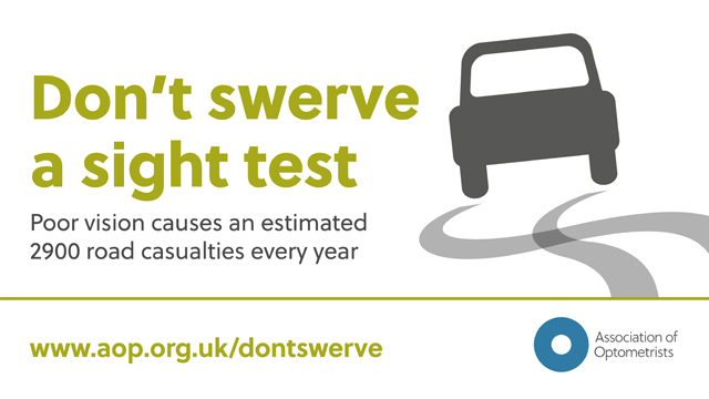 Don't Swerve A Sight Test Campaign at Davies-Todd Opticians (Worksop) Ltd